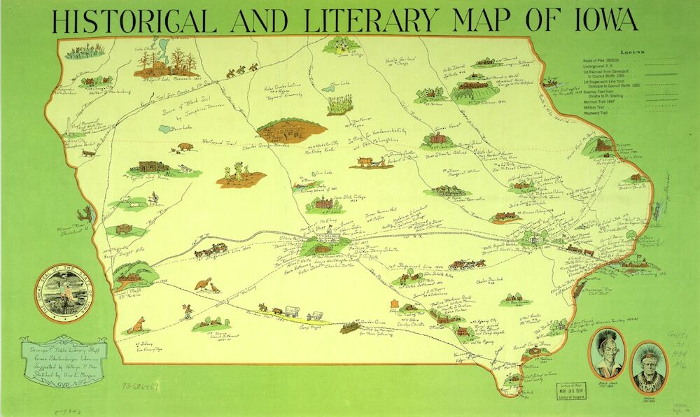 Historical and Literary Map of Iowa_preview